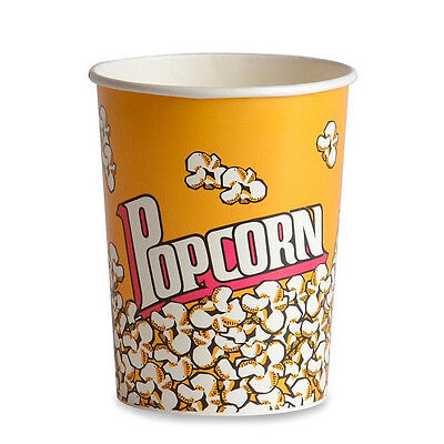 Popcorn Supplies - Yellow Popcorn Cups Tubs 32oz Qty Of 50
