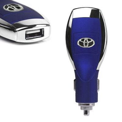 Cargador Adaptador Mechero Coche USB 2A para Smartphone iPhone Tablet Azul
