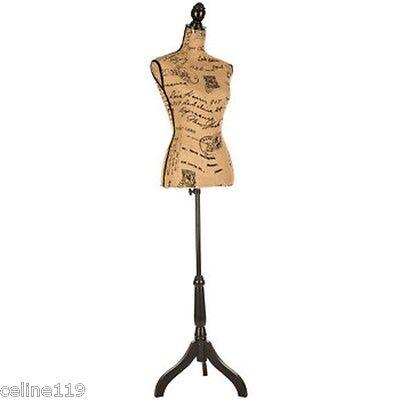 Printed Burlap Mannequin Over 5 Feet Tallshabby Chic Artistic Bedroom Decor New