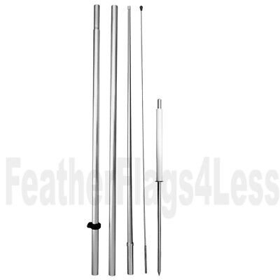 Windless Pole Ground Spike For Swooper Feather 2.5 3 Windless Flag Hq Hyrid