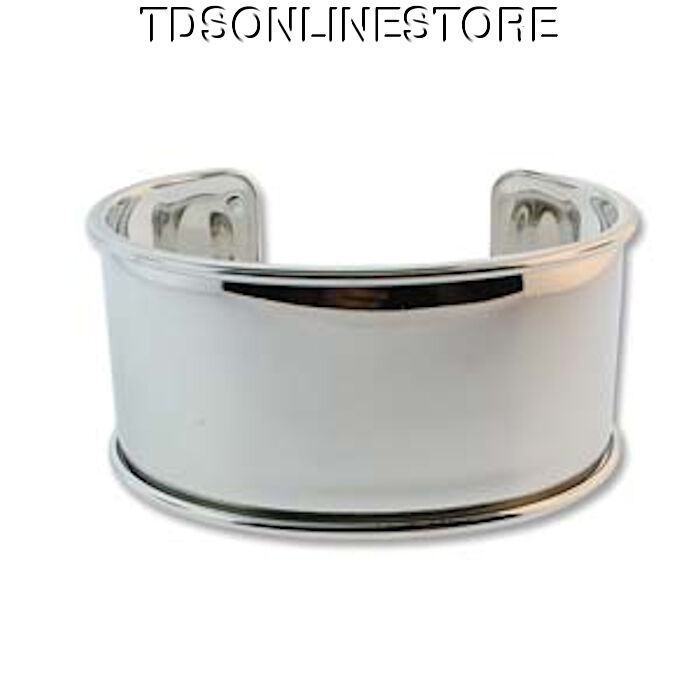 Silver Plated Bracelet Cuff 1 1/4 Inch Great For Wrapping
