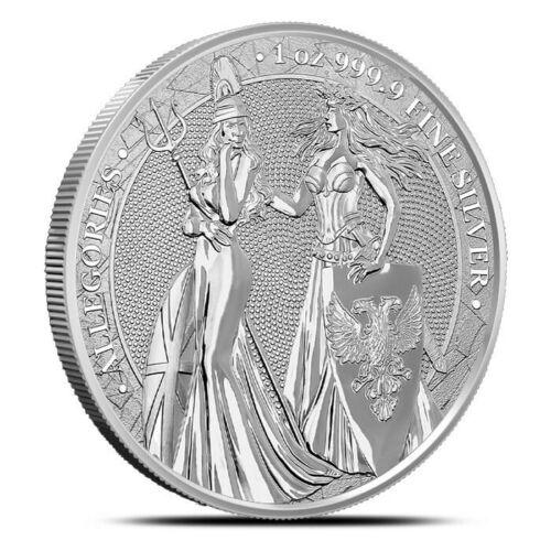 The Allegories Britannia & Germania 2019 1oz Silver BU in airtight capsule