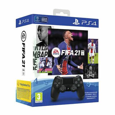 BUNDLE SONY DUALSHOCK 4 V2 NERO + FIFA 21 PS4 VOUCHER DOWNLOAD - OFFERTA
