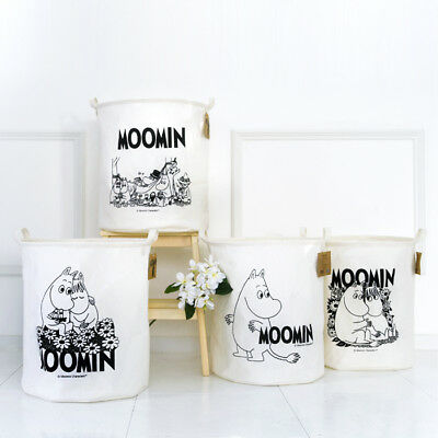 Moomin Waterproof Fold Linen Laundry Basket Clothes Hamper Storage Bin Random