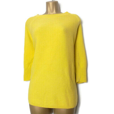 JDY Jacqueline de Yong Jumper Size XS Sweater Yellow Summer Ribbed Short Sleeves