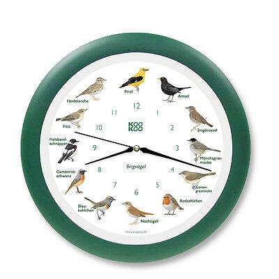 Singvogel Funkwanduhr Grün KooKoo