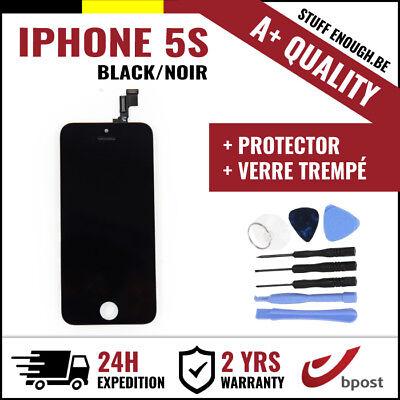 A+ LCD SCREEN DISPLAY SCHERM ÉCRAN BLACK NOIR & VERRE TREMPÉ+TOOLS FOR IPHONE 5S