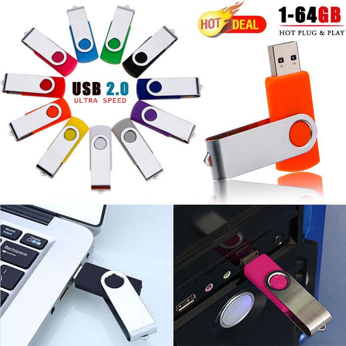 Swivel 64MB~64GB USB Flash Memory Stick Pen Drive 2.0 Storag