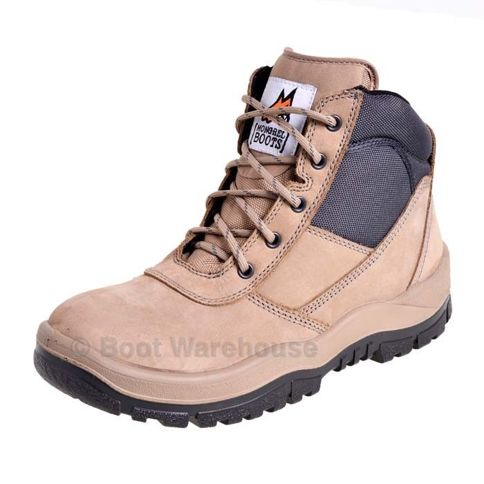 ea2c2d85ac5 Details about Mongrel 261060 Work Boots. Steel Toe Safety. STONE Zip-Sider,  PRESS STUD CLIP!