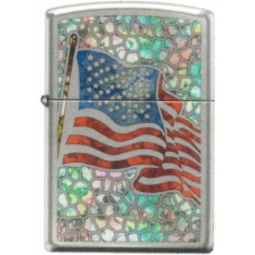 Zippo Lighter - American Flag Fuzion Hi Polished Chrome - 853743