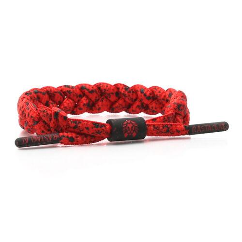 Brand New RASTACLAT Firefly Red Black Exclusive Shoelace Bracelet