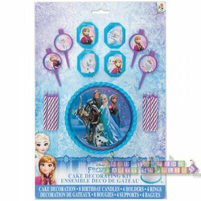 Frozen Cake Supplies (FROZEN CAKE DECORATING KIT (17pc) ~ Birthday Party Supplies Plastic Cupcake)