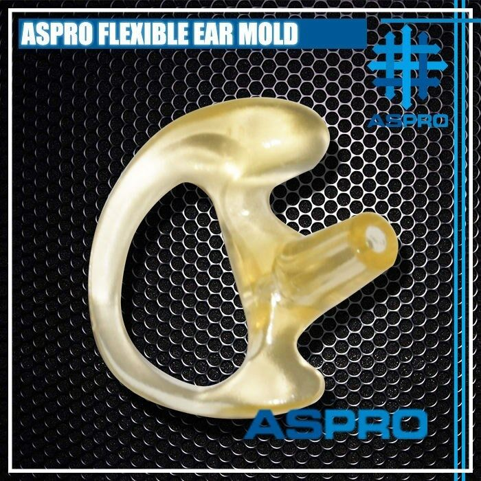 ASPRO FLESH FLEXIBLE SEMI CUSTOM OPEN INSERT EAR MOLDED SOFT RUBBER EARPIECE