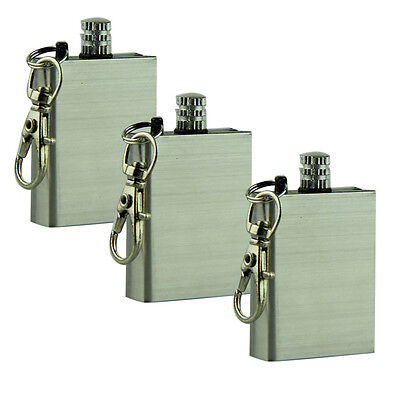 Stainless Steel Permanent Match Outdoor Survival Emergency Fire Starter Keyring