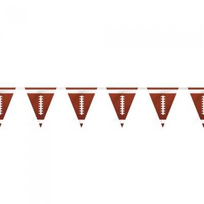 Party Flag Banners (FOOTBALL PLASTIC FLAG BANNER ~ Birthday Party Supplies Hanging Decoration)