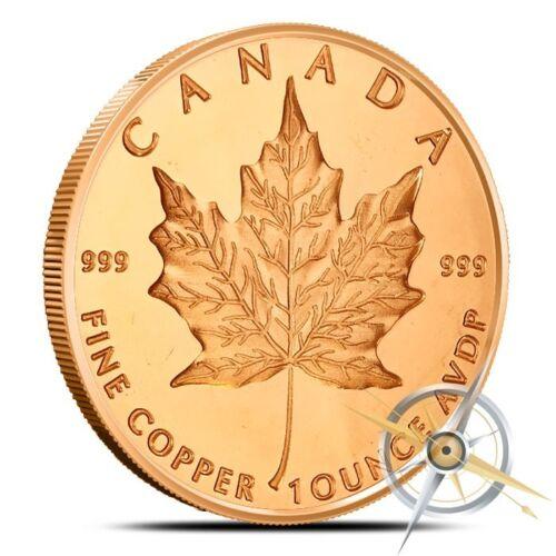 1 oz Copper Round - Maple Leaf