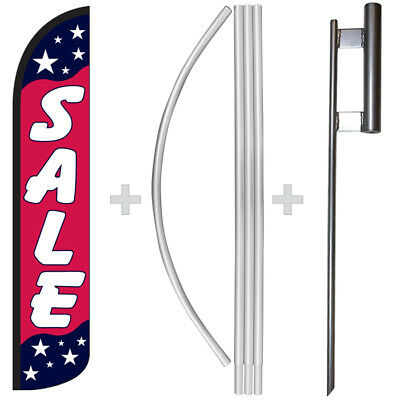 Sale Americana 15 Tall Windless Swooper Feather Banner Flag Pole Kit