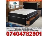 BRAND NEW Single/Double/Small Double/Kingsize Divan Bed Base13inch Memory Foam Orthopaedic Mattress