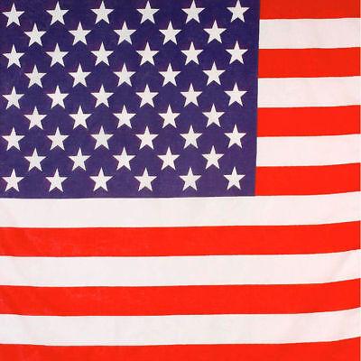 Kopftuch USA Flagge 55cm, Rockerkostüm Bandana Amerika - Usa Flagge Kostüme