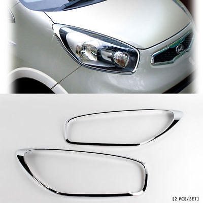 2011 2012 Picanto/Morning Chrome HEAD Light Lamp Cover Molding Trim K-961 comprar usado  Enviando para Brazil