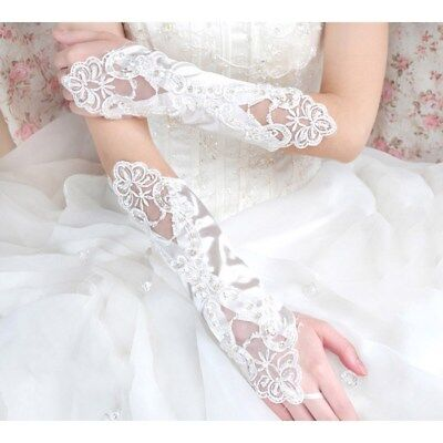 Sequin Gloves (Exquisite Fingerless Bridal Lace Sequin Fingerless Gloves for Wedding Party)
