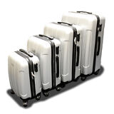 New Generic 4PCS Luggage Travel Set Bag ABS Trolley Suitcase w/ Lock Silver