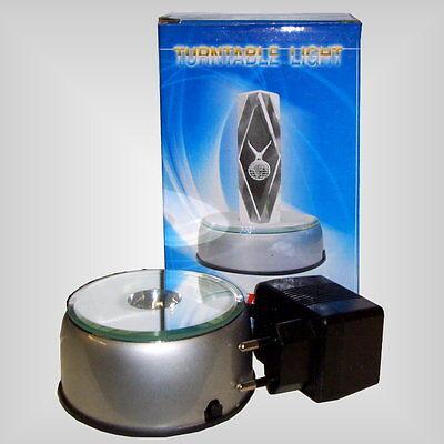 7 LED Leuchte Sockel Untersetzer Drehteller Deko 10,5cm