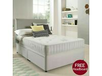 🌈🌈Made to UK Standard🌈🌈 SINGLE / DOUBLE / KING SIZE DIVAN BED WITH SEMI ORTHOPEDIC MATTRESS