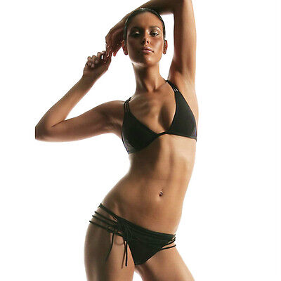 Creative Design Pool Side Party Elegant Bikini Set Black