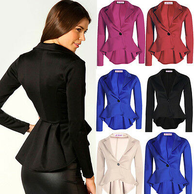 Women's Fashion One Button Slim Casual Business Blazer Suit Jacket ...