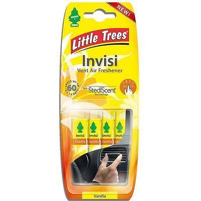 Magic Tree Little Trees Vanilla INVISI Air Vent Car Air Freshener Clips