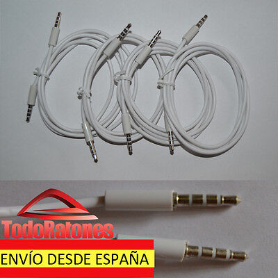 Cable jack 1 m de audio adaptator JACK MALE 3.5 mm alargador...