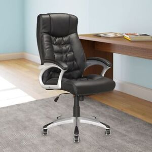 CorLiving - Executive Office Chair in Black Leatherette