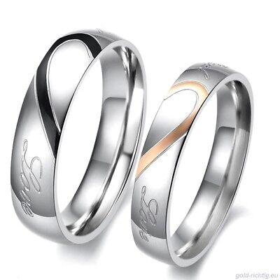 2 Partner Ringe Freundschaftsringe Eheringe Hochzeitsringe Trauringe Herz Liebe