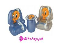 Tweety Air Chair (inflatable) and table