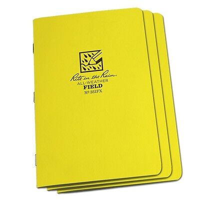 Rite In The Rain 351fx All-weather Field Stapled Notebooks 4 58 X 7