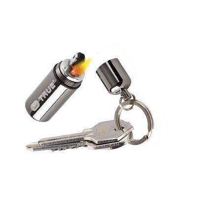 TRUE UTILITY FireStash Mini Benzin Sturm Feuerzeug wasserdicht Schlüsselanhänger