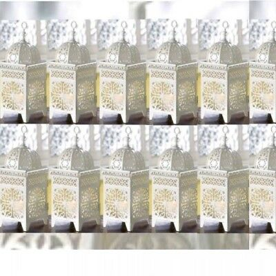 12 Lot Snowy Moroccan Marrakech Lantern Candle Holder Wedding Centerpieces