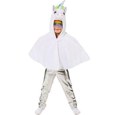 NEU Kinder-Kostüm Einhorn Cape mit Kapuze, - Ein Einhorn Kostüm