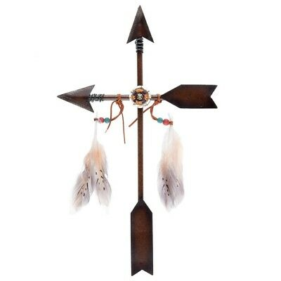 Arrow Cross Metal Wall Decor Antique Style Brown Native Decor 18