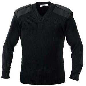 Black Tactical Uniform Sweater For Security a Military