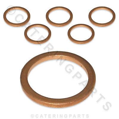 6 X Pack La Pavoni 362012 Flat Copper Gaskets Coffee Machine 18mm X 14mm X 1.5mm