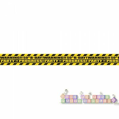 OVER THE HILL 50th BIRTHDAY NOVELTY CAUTION TAPE ~ Adult Party Supplies Hanging (Adult Birthday Party Supplies)