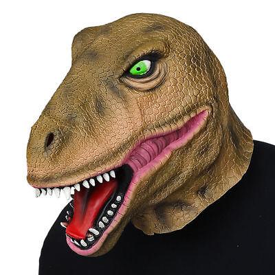 Maske T-Rex Dinosaurier // Vollmaske aus Latex // Dinomaske