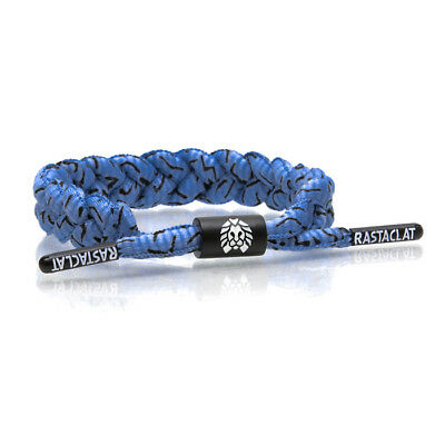 Brand New RASTACLAT Shabazz Blue Black Braided Shoelace Bracelet