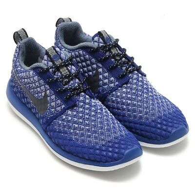 Women's NIKE ROSHE TWO FLYKNIT Trainers Deep Royal Blue Color Size UK 4.5 - BNWB