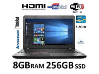 Lenovo E550 15.6 inch i5 8GB RAM 256GB SSD Windows 10 Laptop 1 Year Warranty + Free Case