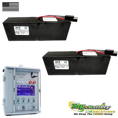 2pc Battery For Impact Medical 754 M Eagle Uni-vent Ventilator 326 750 765