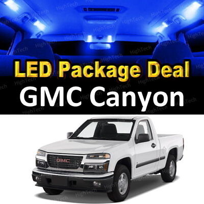 (12x Blue LED Lights Interior Package Deal For 2004 - 2010 2011 2012 GMC Canyon)