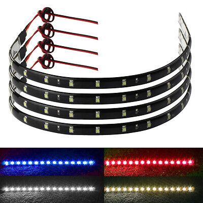 4*30cm 15 LED Car Trucks Grill Flexible Waterproof Lights Strips 4 Colors Unique